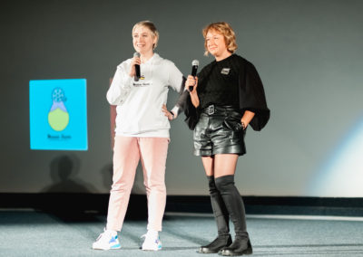 Ламара Карчава и режиссер фильма Темная, как ночь. Каренина-2019 Радда Новикова